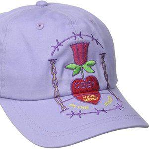 Obey Lavender snapback hat (one size)